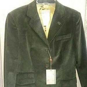 NWT Beretta Corduroy Jacket Dark Green